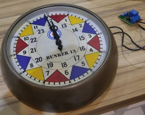 Laser printed Sector clock face added